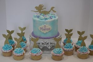 Mermaid tails cupcake toppers