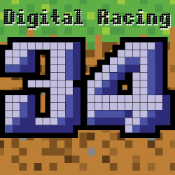 Digital Racing Numbers Decal Set