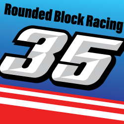 Rounded Block Racing Numbers Decal Full Set